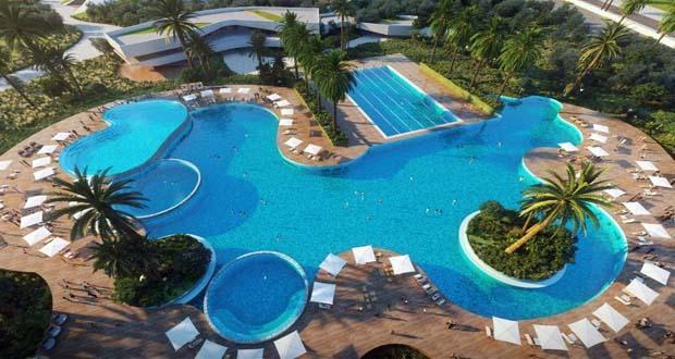 مجمع حمامات السباحة في نادي مدينة نور