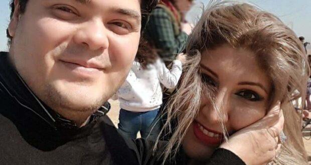 الدكتور شريف النايب وزوجته