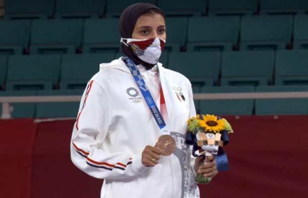 تتويج جيانا فاروق في اولمبياد طوكيو 2020